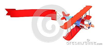 3d Advertising plane