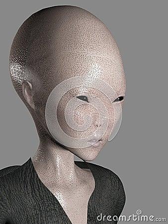 3D alien face