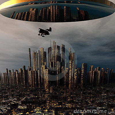 3d alien UFO space ship