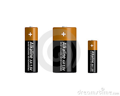 3D alkaline batteries set