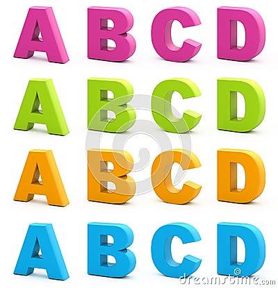 Free 3d Alphabet. Royalty Free Stock Photography - 15665427