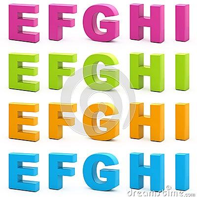 Free 3d Alphabet. Royalty Free Stock Photography - 15665437