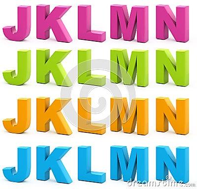 Free 3d Alphabet. Stock Image - 15665461