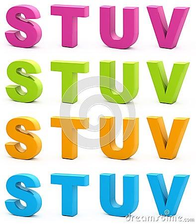 Free 3d Alphabet. Royalty Free Stock Photography - 15665487
