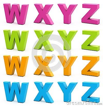 Free 3d Alphabet. Royalty Free Stock Photography - 15665497