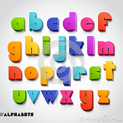 Free 3D Alphabet Colorful Font Style. Stock Images - 38943524