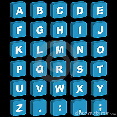 3d alphabet icons uppercase stock image image 13905631