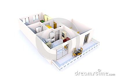 3D Apartment architecture