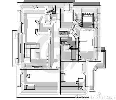 3d apartment sketch