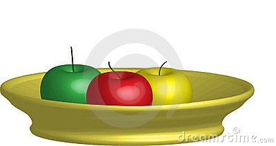3D Apple Stock Photos - Image: 12824753