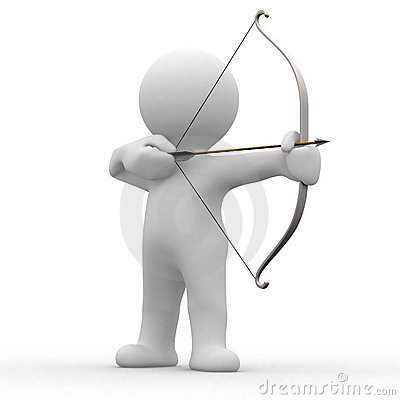 Free 3d Archery Royalty Free Stock Image - 2496356