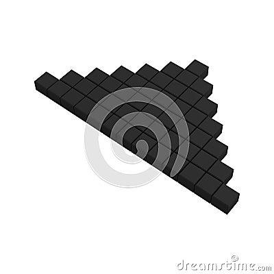 3d arrow pixel icon