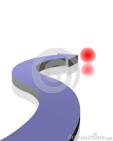 3D arrow and sphere