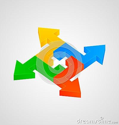 3d arrows figure