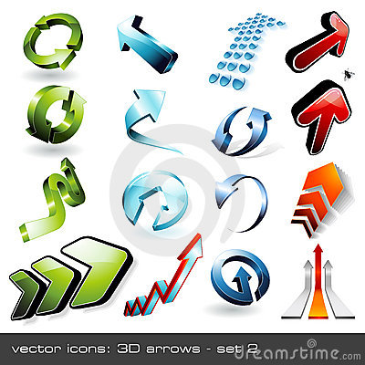 3d arrows - set 2