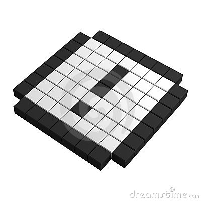 3d attention pixel icon