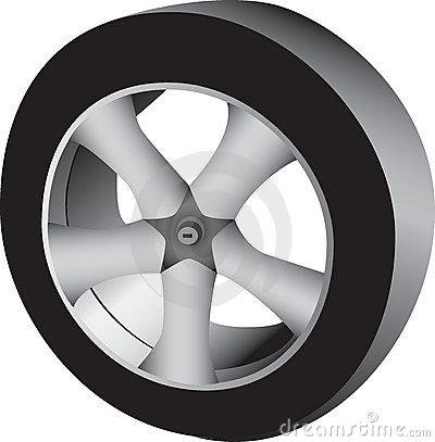 3D auto wheel and tire