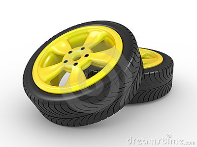 3D automobile wheel