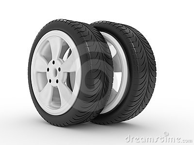 3D Automobile Wheel Stock Images - Image: 19521524