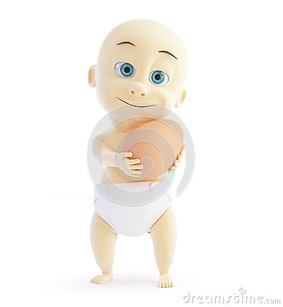 3d baby egg