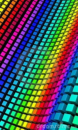 Free 3D Background - Colorful Cube Wave 02 Royalty Free Stock Photos - 18623078