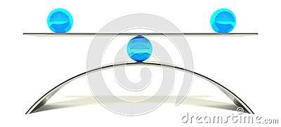 3d ball balance, concept of equilibrium