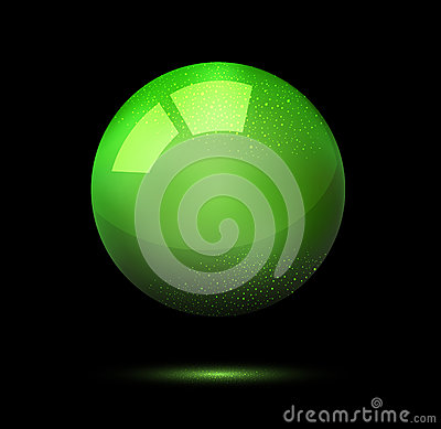 3d ball on a black background