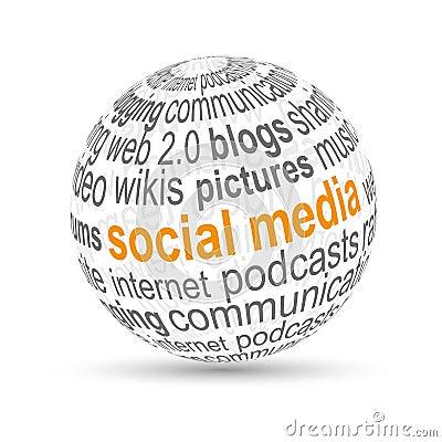 3D ball social media