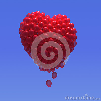Free 3d Balloon Heart Stock Photography - 38801172