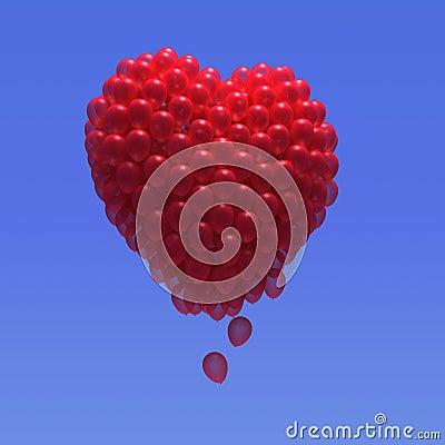 Free 3d Balloon Heart Stock Photography - 38801172