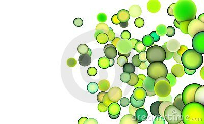 3d balls in multiple shades of green