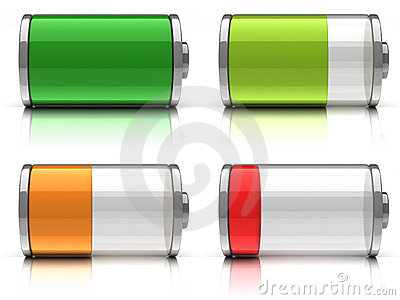 3d Battery icons