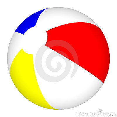 Free 3D Beach Ball Beachball Isolated Stock Images - 6747294