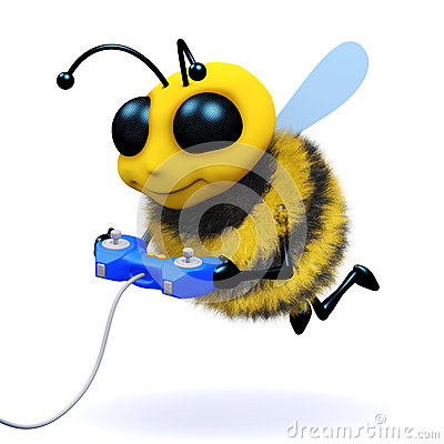 Free 3d Bee Gamer Stock Images - 38956254