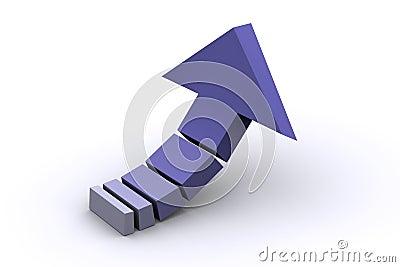 3d Bended Arrow