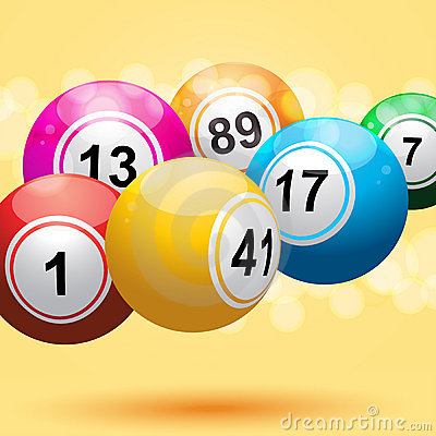 3d bingo ball background