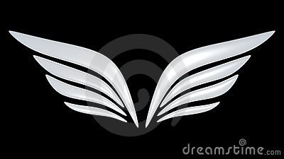 3d bird wing symbol
