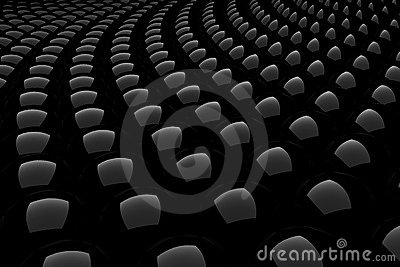 3d black shiny sphere abstract pattern