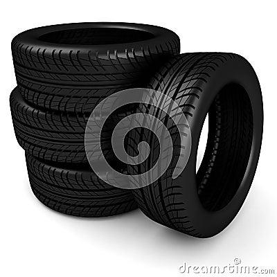 3d black tyres