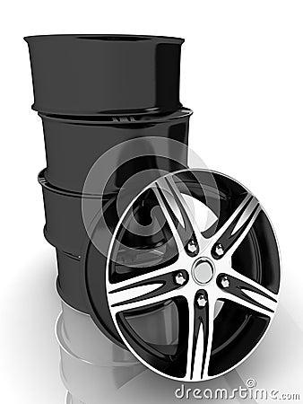 3d black wheels
