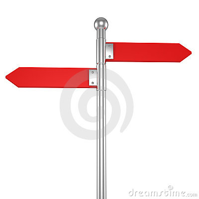 3d blank arrow sign