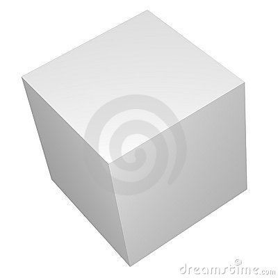 3D Blank White Box or Cube