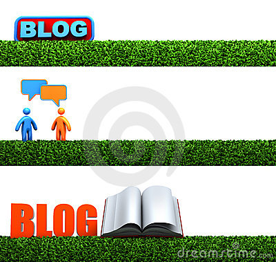 3D Blog headers