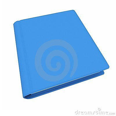 3d  blue book with blank cover