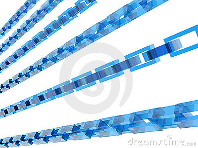 3D blue chains