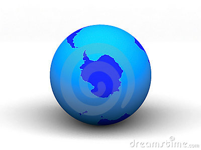 3D blue earth