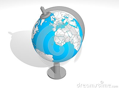 3D Blue globe