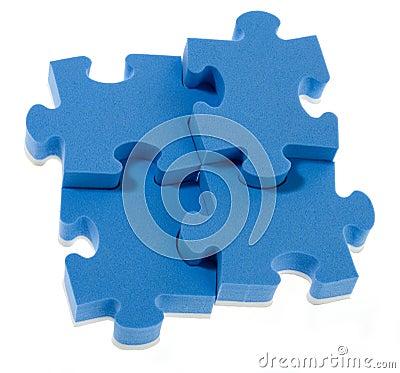 Free 3D Blue Puzzle Stock Images - 13652714
