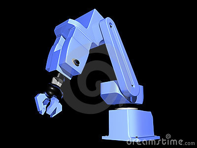 3D Blue Robotic Arm