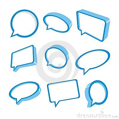 3d blue speech bubbles